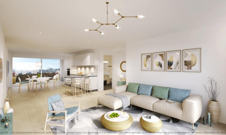 L'Esplanade Bulle : Appartement A2.1