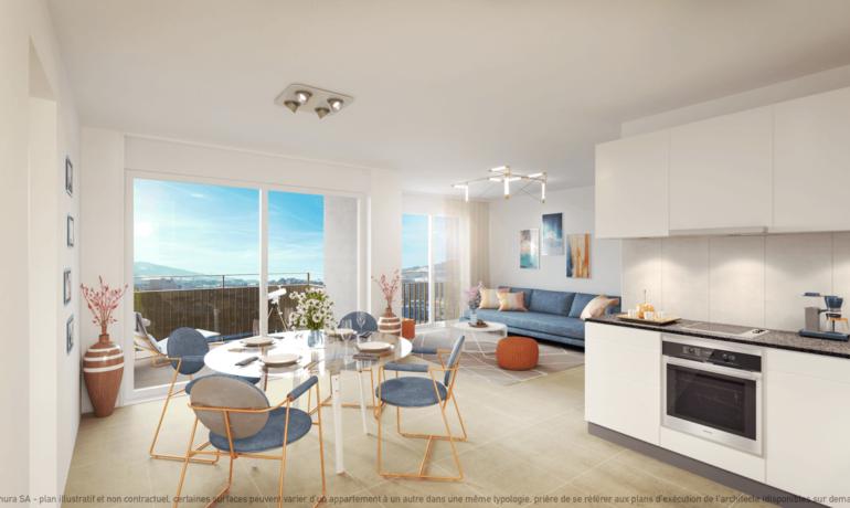 L'Esplanade Bulle : Appartement A2.2