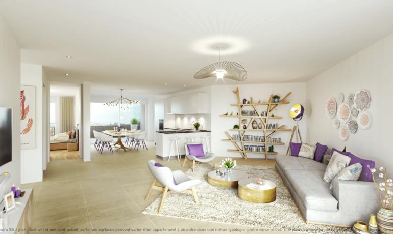 L'Esplanade Bulle : Appartement A2.3