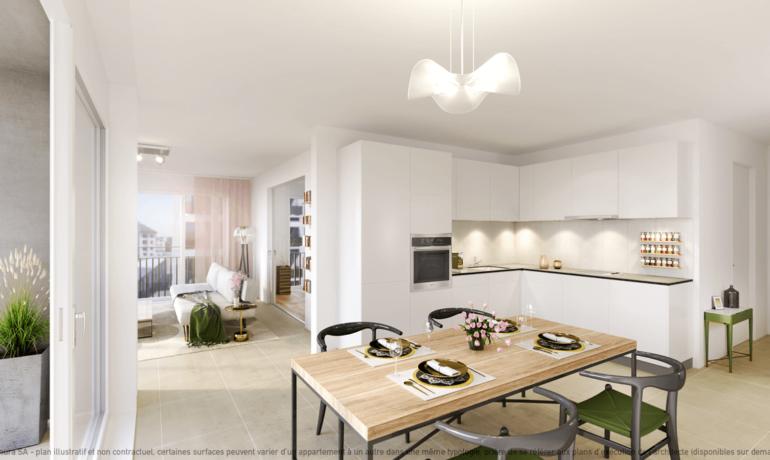 L'Esplanade Bulle : Appartement B2.2